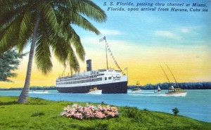 Steamship that began the journey from Cuba to Saluda, NC